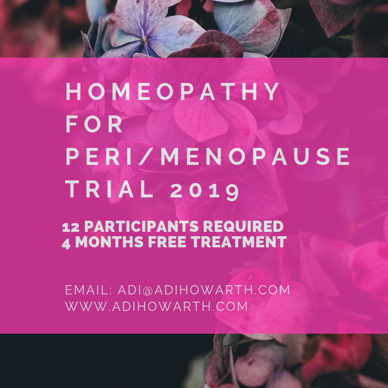 Free Homeopathy for Menopause Study with Adi Howarth